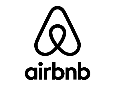 Black and White Airbnb logo